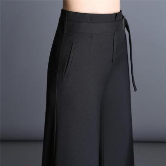 Lebar Kaki Celana Wanita Musim Semi dan Musim Gugur Baru Korea Versi Tinggi Pinggang Longgar Ukuran