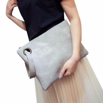 Wanita Leather Handbag Clutch Evening Bag Simple Retro Envelope Paket-Intl efdd7df4f3