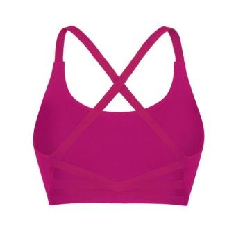 Wanita Olahraga Bra untuk Menjalankan Gym Rompi Push Up Underwear Fitness Yoga Bra Merah-Intl