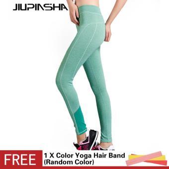 Wanita Latihan Olahraga Kebugaran Legging Profesional Menjalankan Yoga Celana Tinggi Pinggang Elastis Ketat Celana-Intl