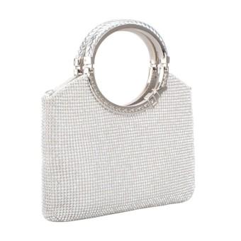 Wanita Tas Tangan Kristal Berlian Buatan Malam Clutch Tas Pesta Pernikahan Clutch Dompet-Internasional
