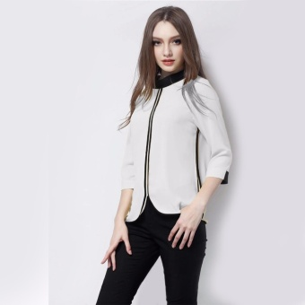 Xavier blouse cantik casual putih / blus korea jumbo / big size / blus jumbo /