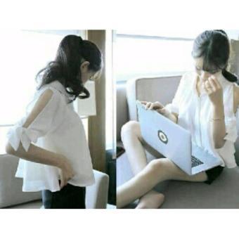 Xavier Laptop Girl Putih RSQ Blouse Lengan panjang   lengan ruffle 3 4    lengan 444b535b79