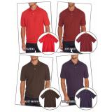 Detail Gambar USA Cotton XL-4XL/ Kaos Polo T-shirt Jumbo / Big Size / Merah Orange Terbaru
