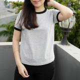 Gambar Produk Rinci YGTSHIRT - T-shirt Ringer Tee Cewek / Kaos Wanita / Tshirt Cewe Cotton Combad / Kaos Oblong Terkini