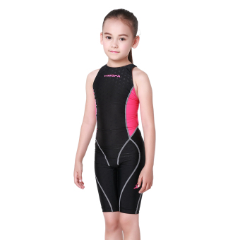 harga Yingfa bionik VISHARK kulit permainan profesional wanita siam berenang baju renang anak baju renang (Merah muda hitam untuk melawan) Lazada.co.id