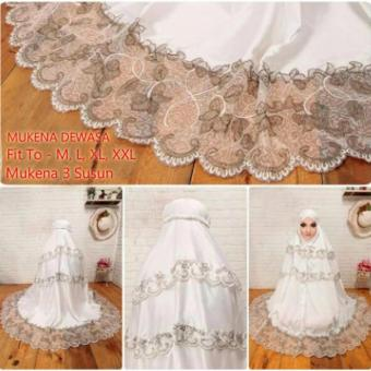 Yuki Fashion Mukena Royal Dewasa 3 - Putih - Best Seller