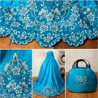 Yuki Fashion Mukena Saritta Dewasa - Biru3 - Best Seller