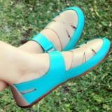Yutaka flat shoes hijau-cream