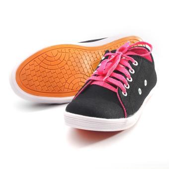 Hot Deals Yutaka Sepatu Kets Sneakers Hitam Pink terbaik murah - Hanya Rp46.728