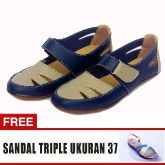 Yutaka Sepatu Wanita Sp30 Biru + Gratis Sepatu Triple Ukuran 37