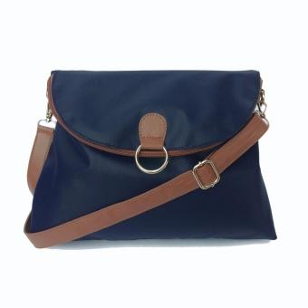 Best Seller Zada Tas Backpack Selempang Wanita 2 way Isti-Biru dan Coklat Muda