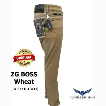 ZG Boss - Celana Jeans Panjang Pria Stretch Denim - Warna Wheat