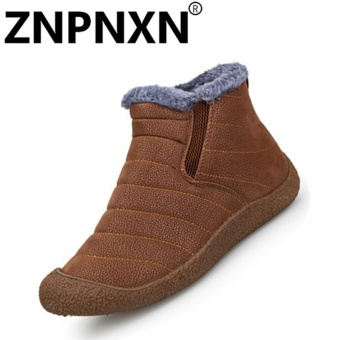 ZNPNXN Fashion Autumn And Winter New Men'S Cotton Shoes Men'S Casual Shoes (Yellow) - intl