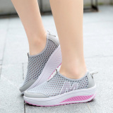 ... ZOQI Wanita Fashion Sepatu Sepatu Olahraga Kasual Bernapas Nyaman Sepatu  (abu-abu)- ... 5a1314b6cb