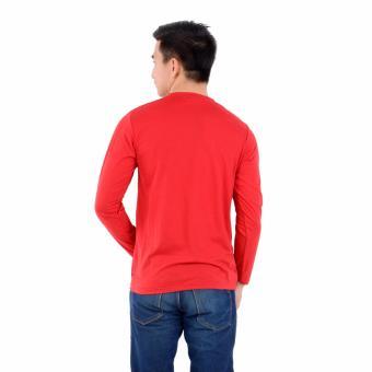 Review of Zos Kaos T-Shirt Distro Atasan Pria Lengan Panjang V Neck Bisa Untuk