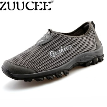 ZUUCEE 2018 Lovers Breathable Hiking Shoes Men Outdoor Casual Sports Shoes(deep grey) - intl