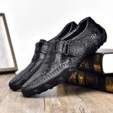 ZUUCEE Pria Fashion Loafers Sepatu OCTOPUS Sepatu Kasual Outdoor Sepatu ( hitam)