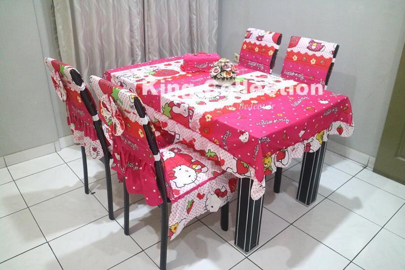 set sarung kursi makan hk strawberry