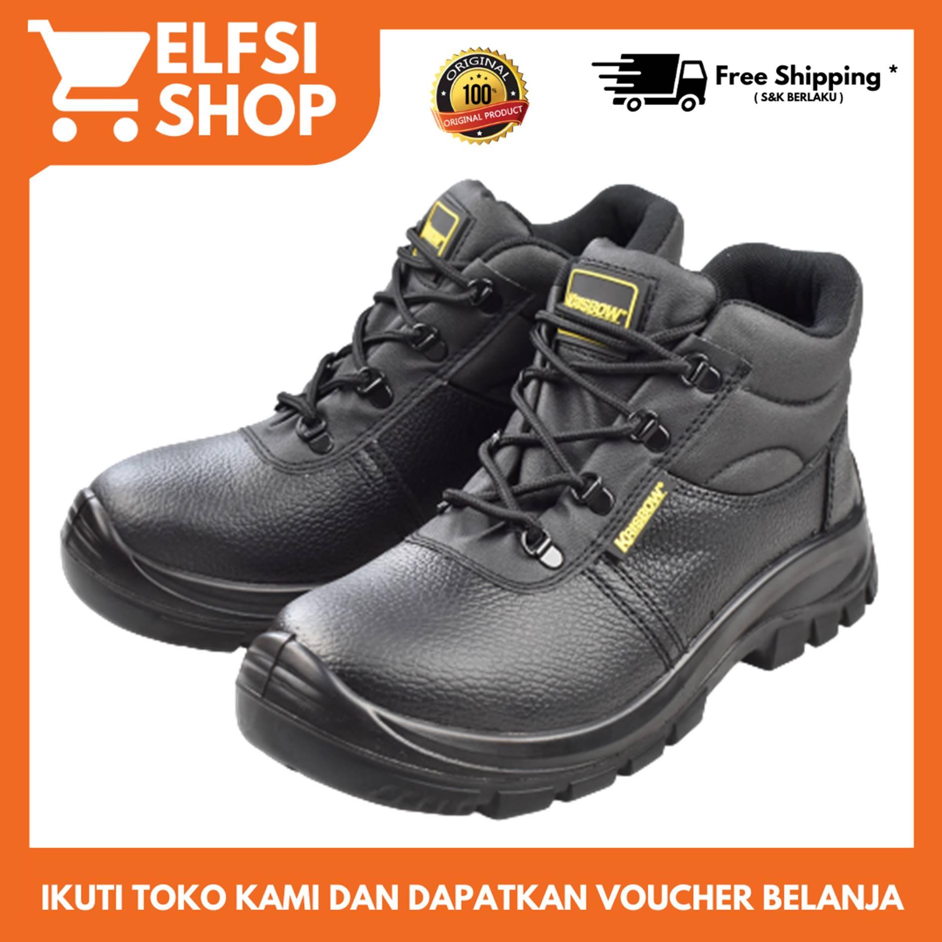 krisbow – sepatu pengaman / sepatu safety maxi ankle boots 6″ – hitam