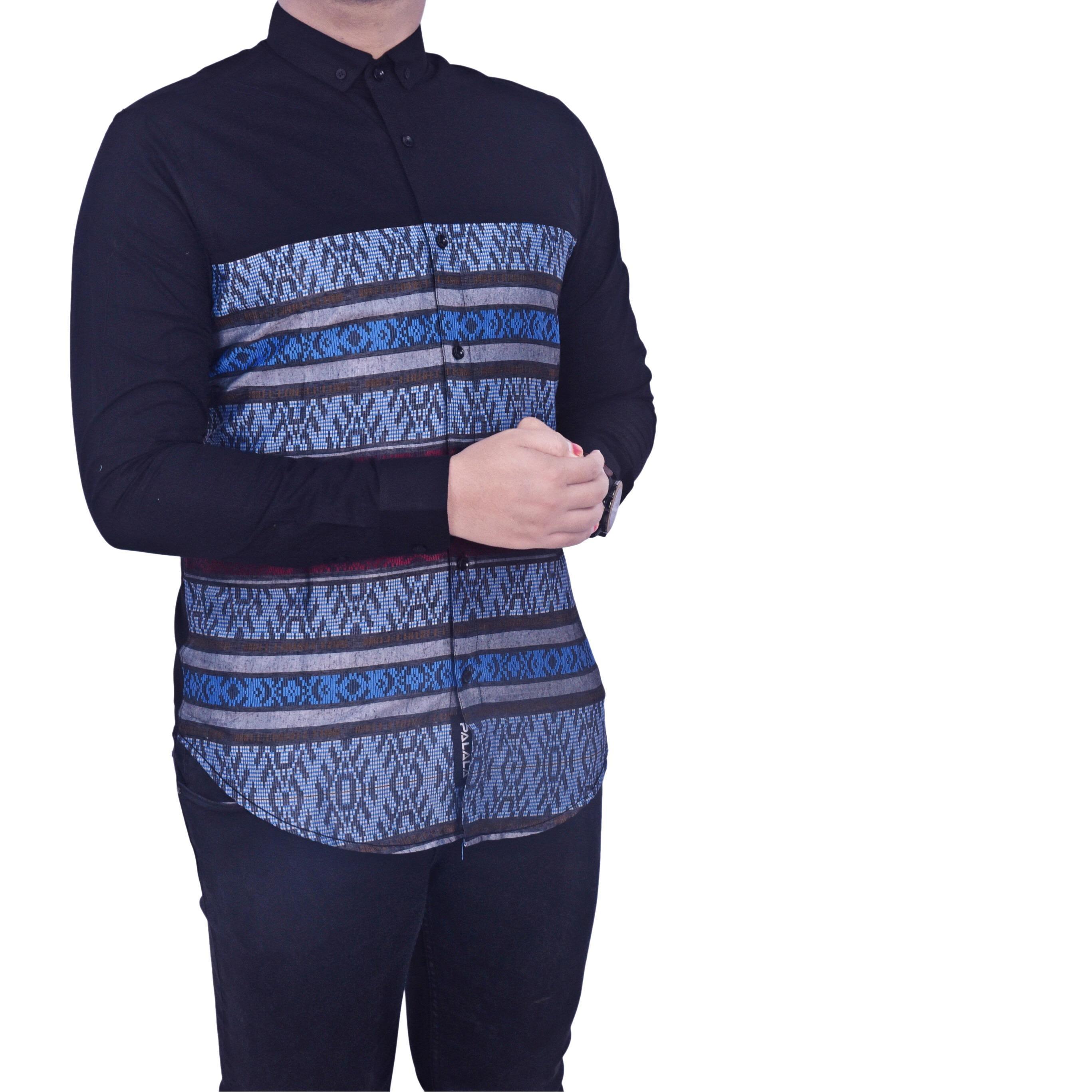Review Dgm Fashion1 Kemeja Pria Lengan Panjang Kombinasi Batik