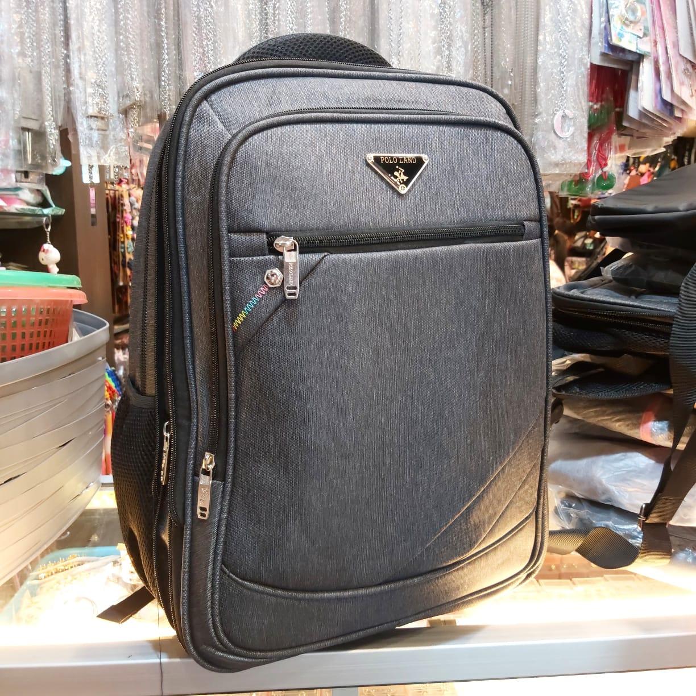 tas ransel polo original – tas laptop pria original  2020 asli import ukuran besar (dii kunci resleting utama)
