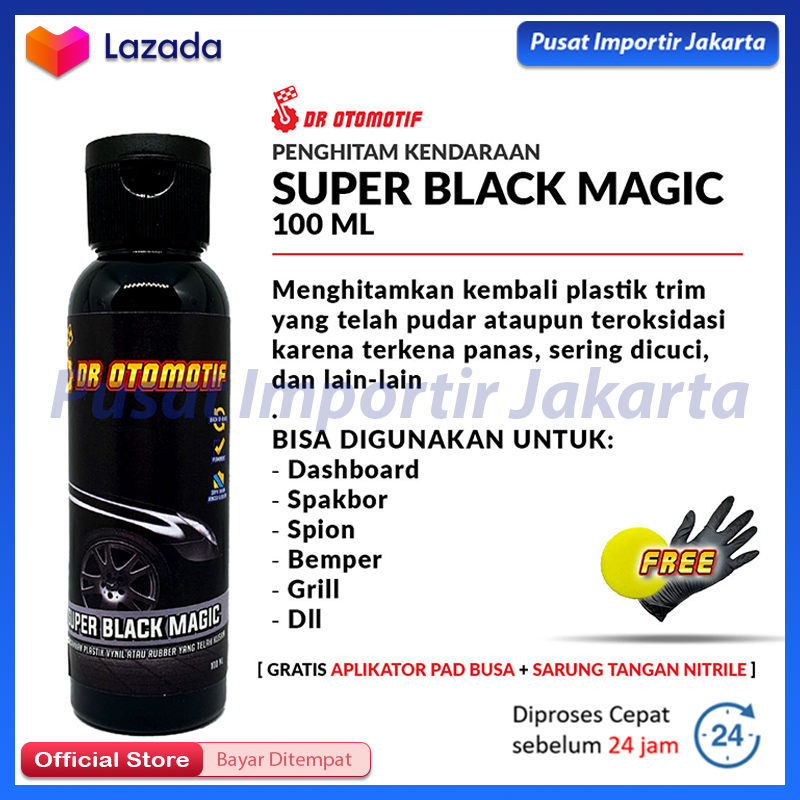 BEST SELLER !!! - Penghitam Body Motor / Penghitam Dashboard / Penghitam Bodi / Penghitam Kendaraan / Super Black Magic Aero Black Motor / Aero Black Penghitam / Black Magic / Penghitam Body Mobil Super Black Magic Dr.Otomotif ORIGINAL