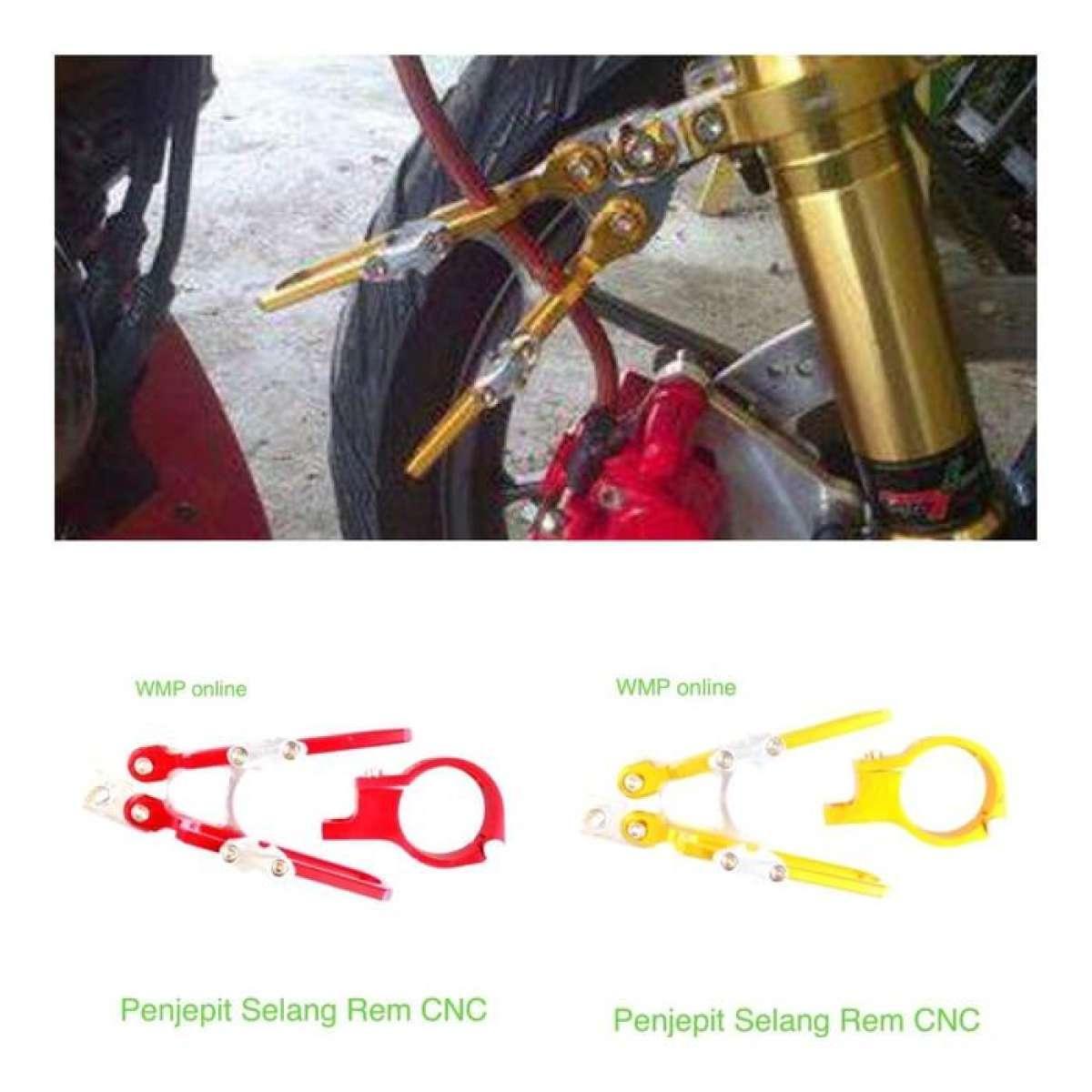 Detail Gambar jepitan selang rem depan cnc SEmua jenis motor [RAJA&RATU] Terbaru