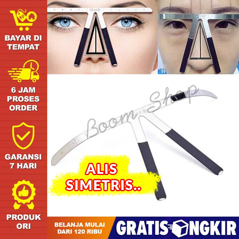 penggaris alis praktis / eyebrow ruler measure shaping tool / alat penyeimbang membuat alis / alat akurasi posisi alis