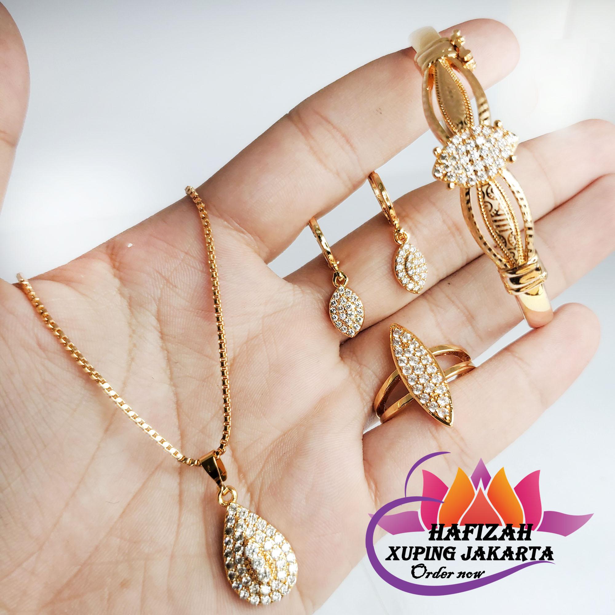 Dimana Beli Set Perhiasan Xuping Lengkap Wanra Perak ...
