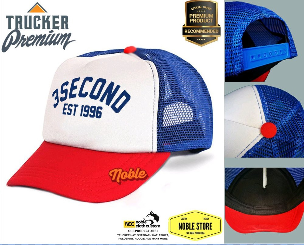 topi trucker 3 second – topi trucker pria wanita – topi 3 second – trucker 3 second