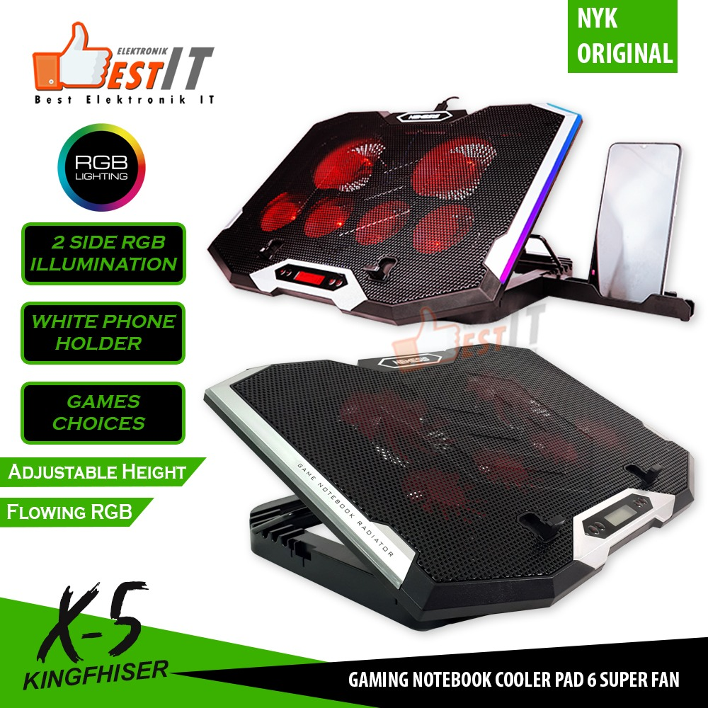 nyk nemesis coolingpad gaming rgb with comtroller nyk x-5 kingfisher