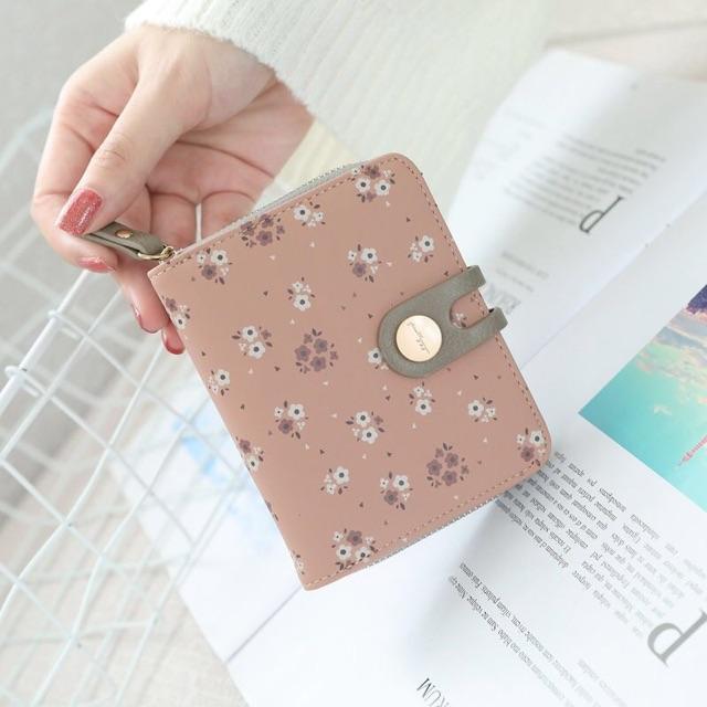 dompet wanita lipat full flower