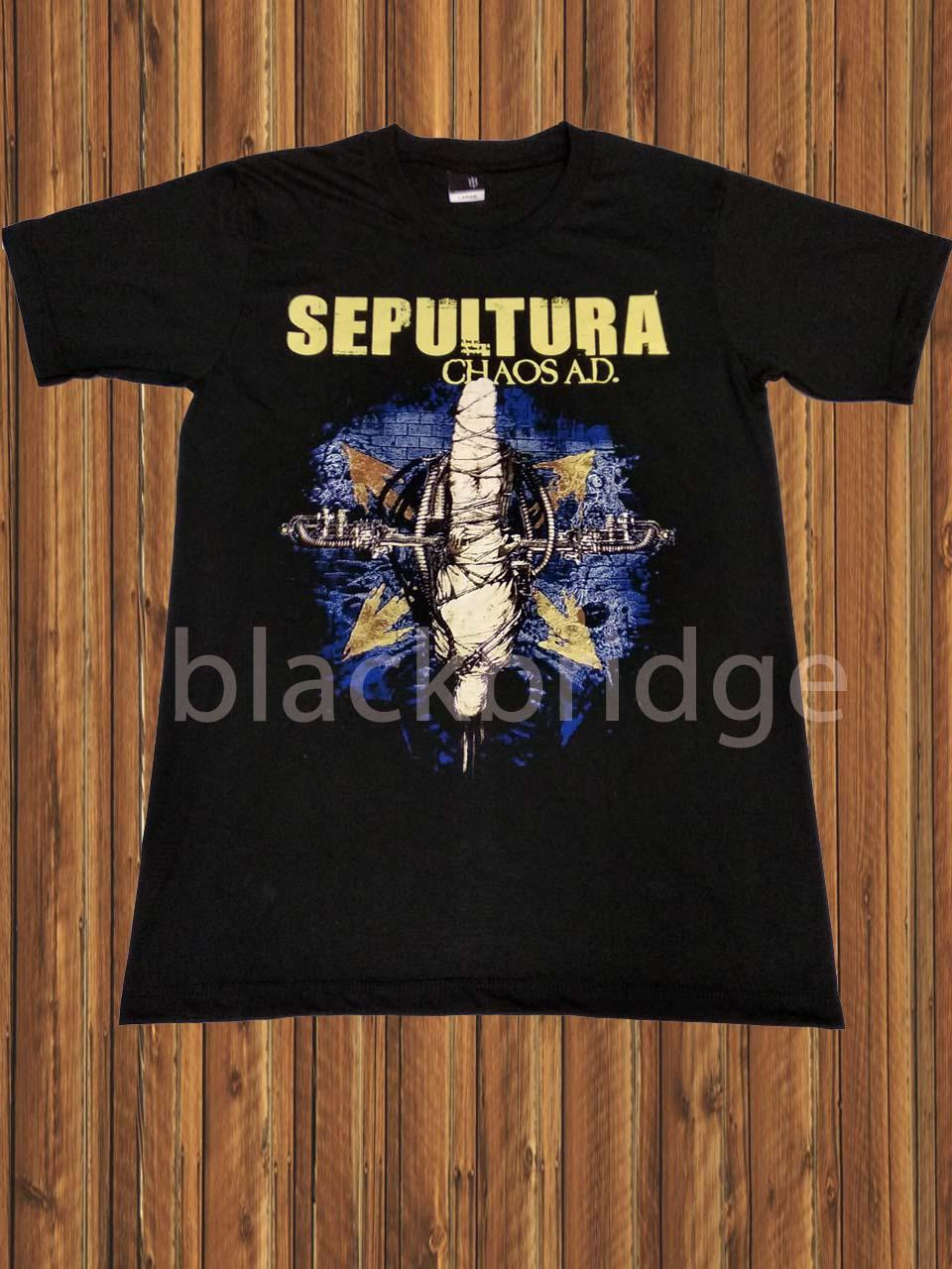 Kaos Pendek / Oblong Band Rock / Metal / Punk PRAPATAN REBEL Murah (Size L) - SEPULTURA