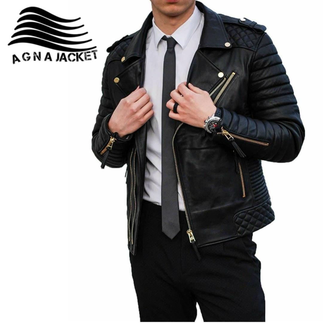 jaket pria kulit sintetis asli garut