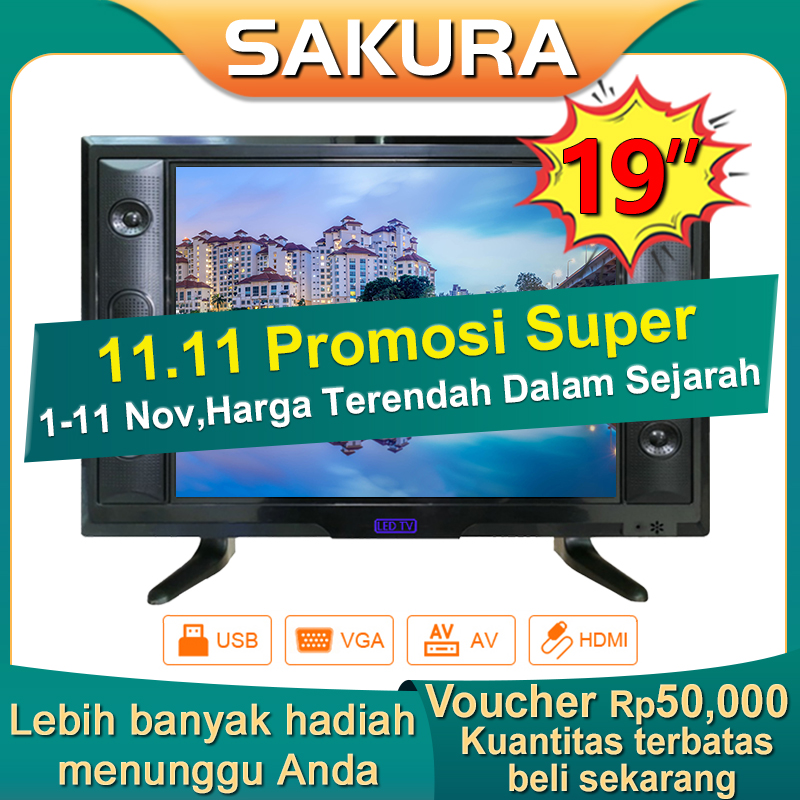 Sakura TV LED 19 inch HD Ready Televisi Murah(TCLG-S19B)