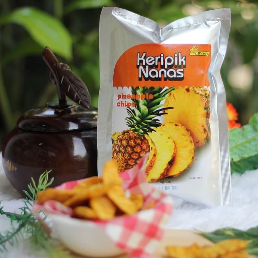keripik kripik buah nanas 100 gram oleh oleh khas malang