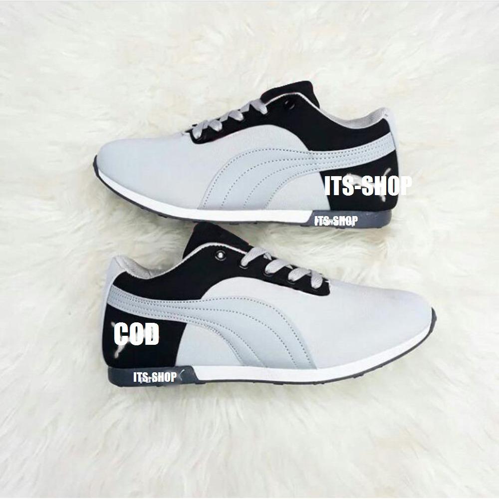 Sepatu Olahraga Wanita Sneakers Abu Hitam - Sepatu Jalan Wanita DN72 1aa01c58a7