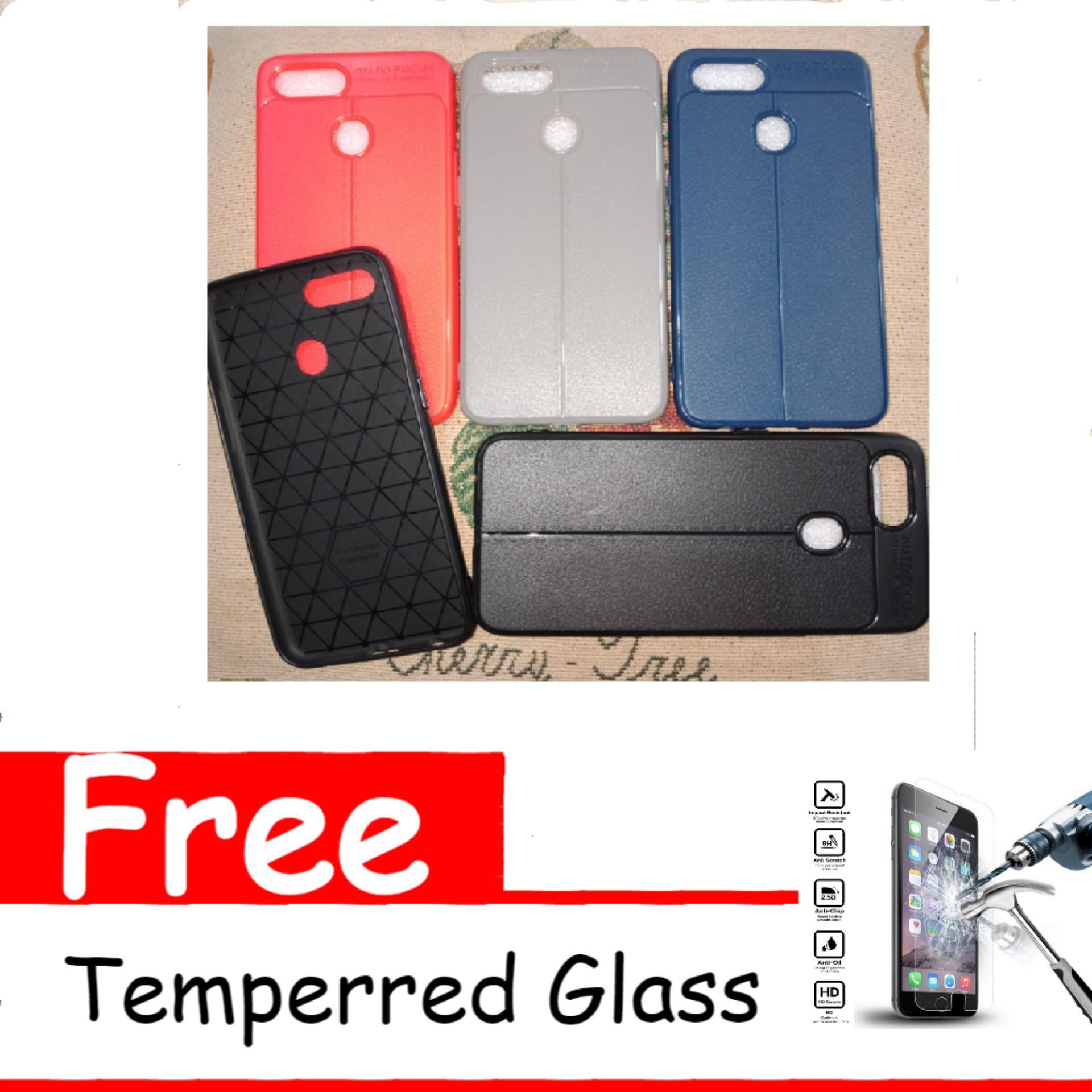 Case Premium Softcase Silicon Auto Focus For Oppo A7 (RANDOM) Free Temperred Glass