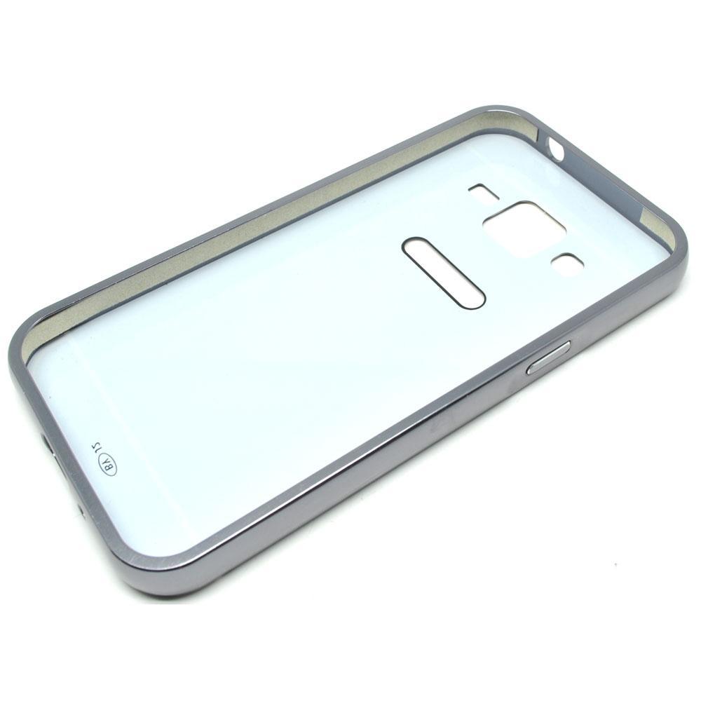 ... Aluminium Bumper with Mirror Back Cover for Samsung Galaxy J2 2015 - Black - 3 ...