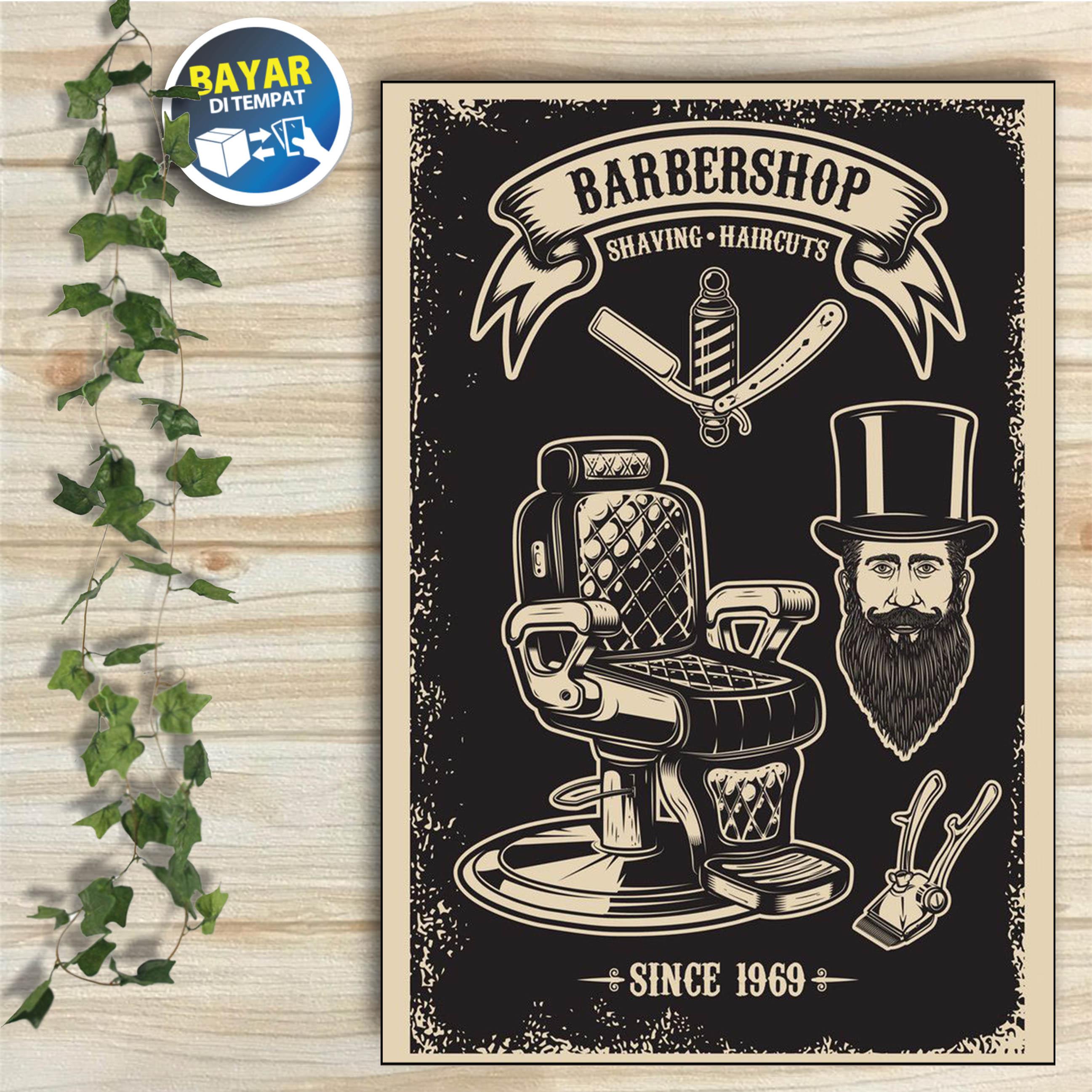 bbs011 – hiasan dinding tema barber shop ukuran 20x30 cm/ poster kayu / wall decor / dekorasi rumah / hiasan unik / hiasan ruangan