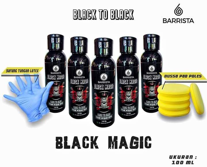 black magic barrista – penghitam plastik body motor mobil uk 100 ml