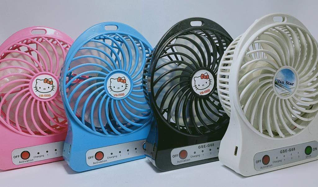 Toko DAL-Kipas Angin Mini Portable / Mini Fan USB Portable - Warna Random