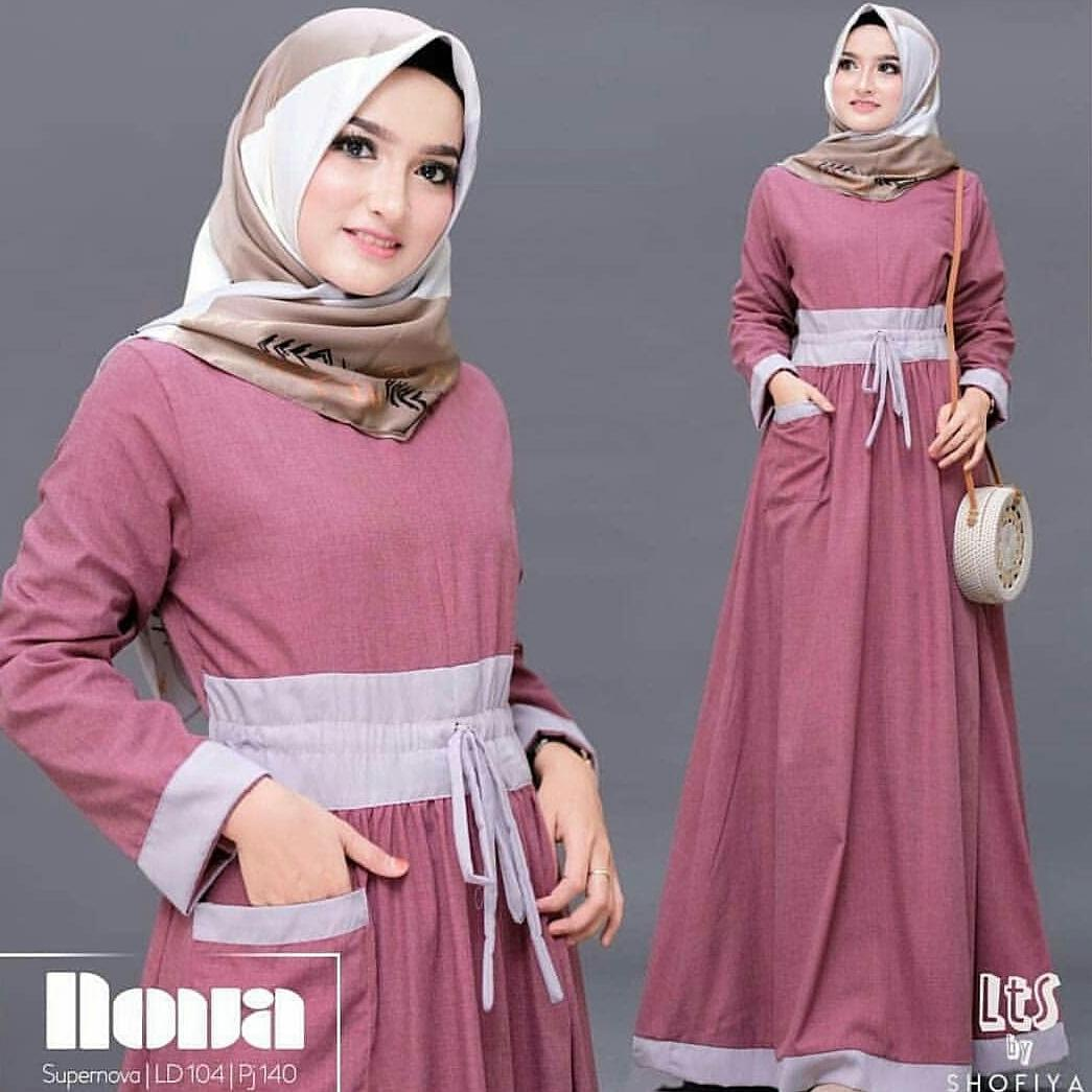 doublec fashion dress bismilah maxi / maxi dress longdress / maxy wanita / muslim wear / pakaian wanita pakaian hijab