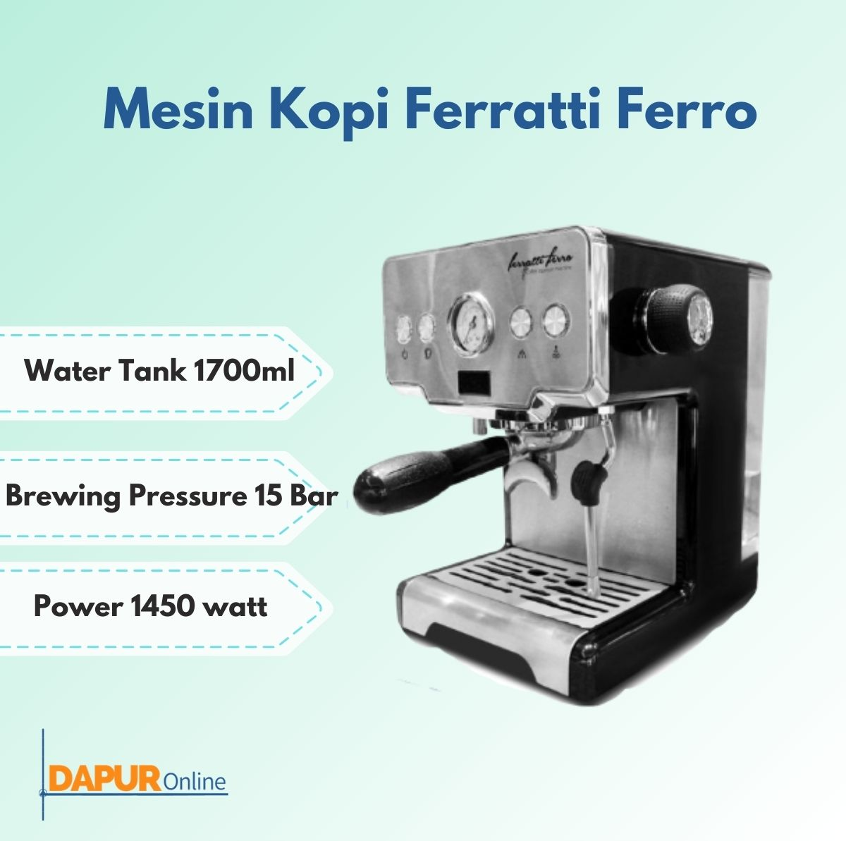 mesin espresso / espresso machine – ferratti ferro fcm3605