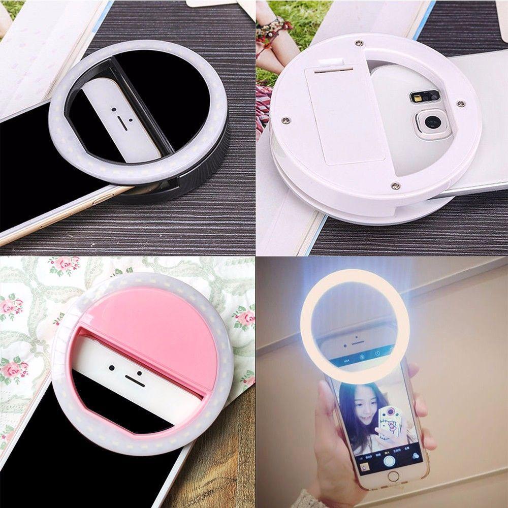lampu selfie portable clip mini 36 led lampu selfie bulat ring lamp fill in light night lampu selfie ring selfie
