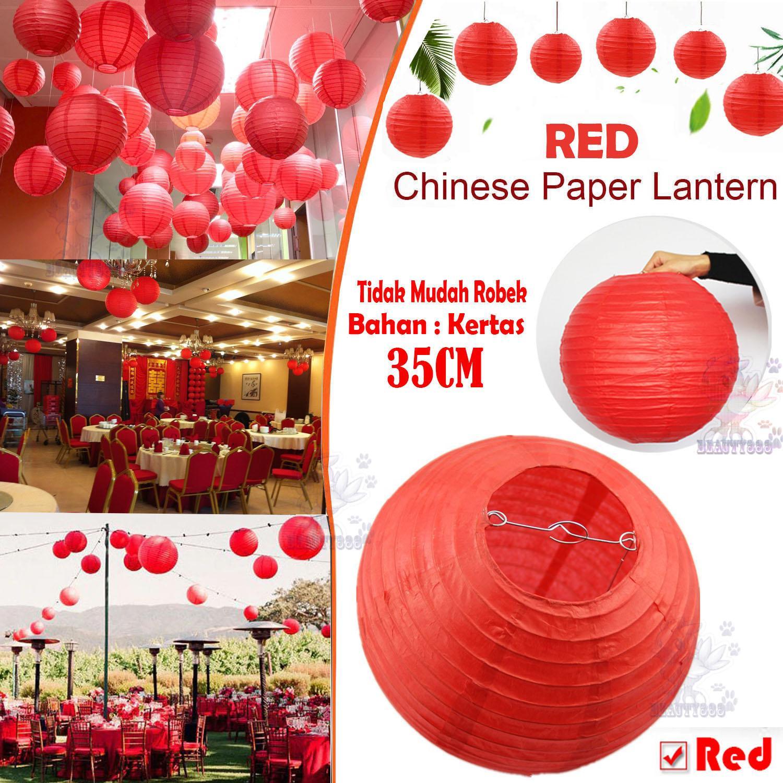 Beauty Lampion POLOS 35 CM Chinese Paper Lantern Birthday Wedding Party Decor Lantern Ball / Lampion