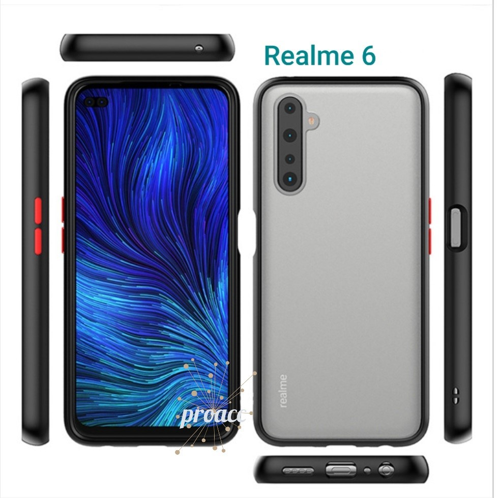 Case Matte REALME 6 2020 Premium cover High Quality Bumper Aero Back Casing bumper softcase