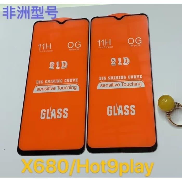 promo grembon tempered glass infinix hot 9 play anti gores kaca full layar warna list hitam anti bintik pelangi