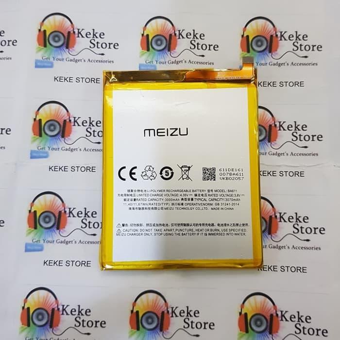 baterai original for meizu m5 ba611 3070mah battery batre batrei